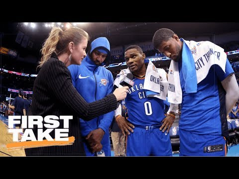 Thumbnail: First Take analyzes what Thunder win vs. Knicks means for Warriors | First Take | ESPN