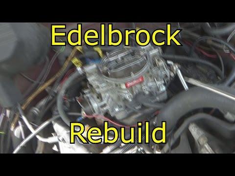 How I rebuild a Edelbrock carburetor 600 CFM