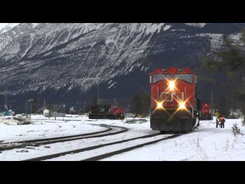 CN Rail -- Any spare power for a Westbound train? Jasper Feb2014 Part 4
