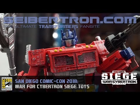 Transformers War for Cybertron SIEGE products shown at SDCC 2018