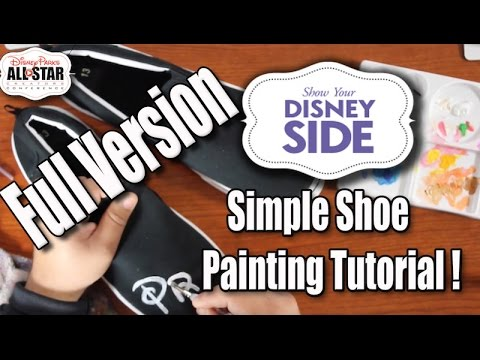 Disney DIY | Simple Custom Shoe Tutorial for anyone! & Disney World Adventure | The Dan-O Channel