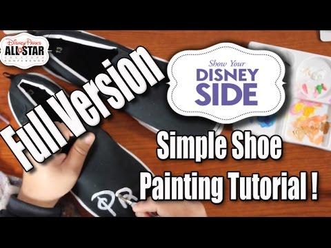 Disney DIY | Simple Custom Shoe Tutorial for anyone! & Disney World Adventure | The Dan-O Channel