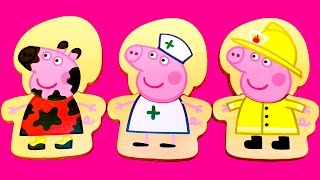 Peppa Pig Toys Wooden Dress Up Peppa  Mix and Match Peppa's Outfits Juguetes de Peppa Pig