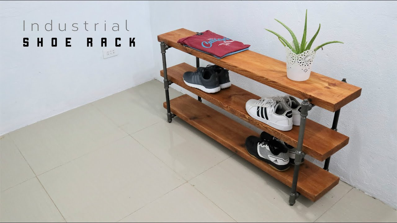 how to make a industrial shoe rack with no screws