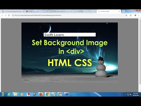 How To Add Background Image In Div In Html Css.