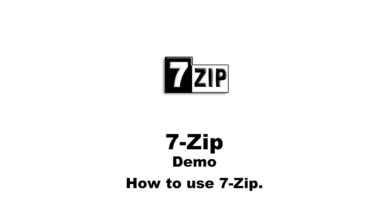 How To Use 7 Zip Youtube