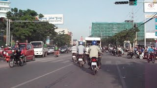 On Russian Boulevard and turn around to Sky bridge in Phnom Penh city
