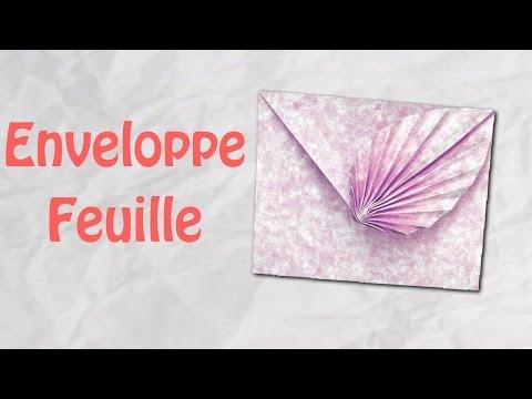 ORIGAMI : Enveloppe Feuille : Idéale Invitation