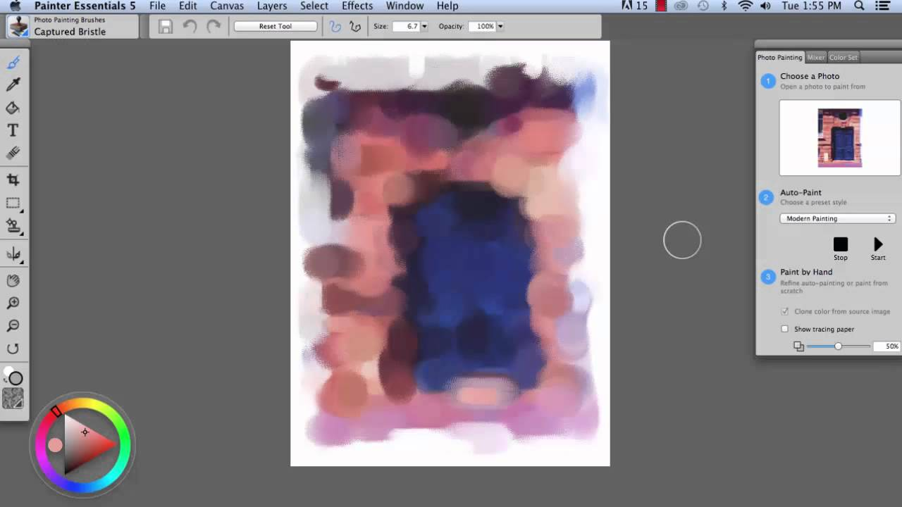 photo painting in painter essentials using acrylics oils and