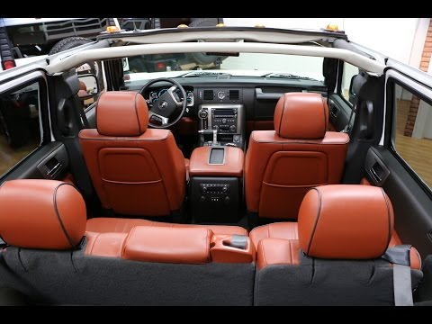 Review of 2008 Hummer H2 Luxury Convertible~White/Sedona~VERY RARE~Only 3,636 Miles~