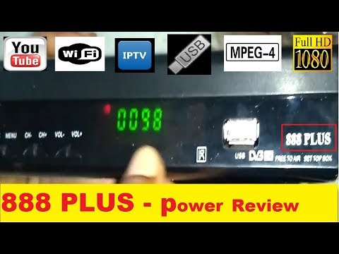 888 Plus Settopbox Power pack review,[Unboxing+MPEG 4+Wifi+Youtube+