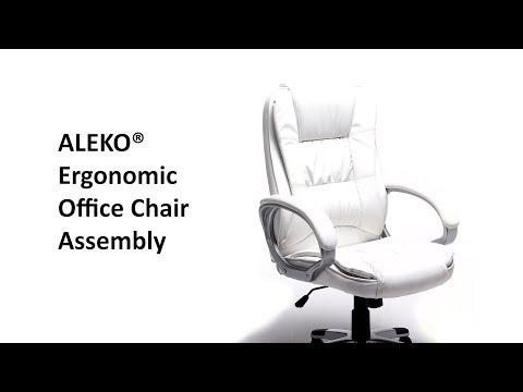 ALEKO Ergonomic Office Chair Assembly