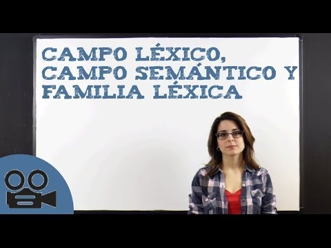 Campo léxico, campo semántico y familia léxicaиз YouTube · Длительность: 7 мин19 с