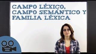 Campo léxico, campo semántico y familia léxica