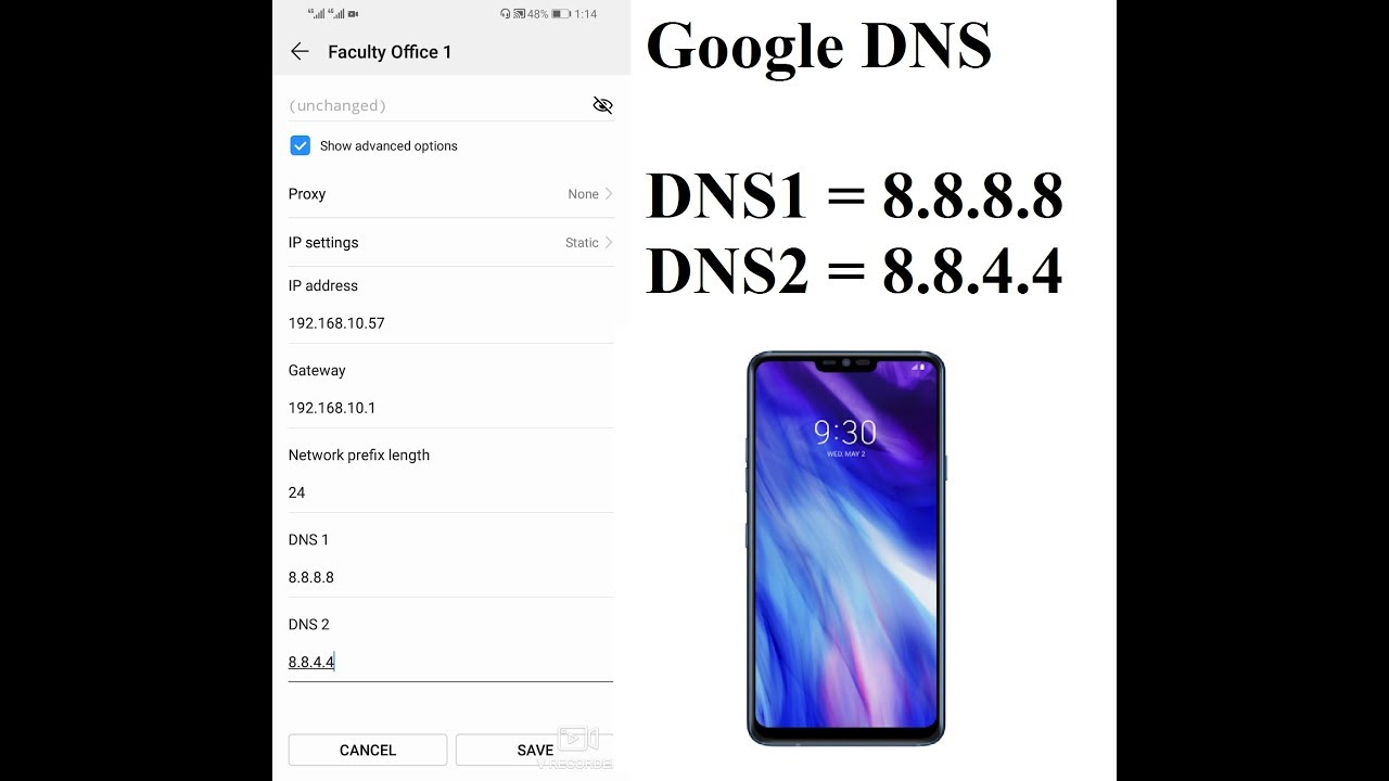 How To Change Dns Setting In Android Mobile Google Dns Youtube