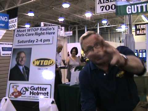 Chris Core From WTOP And Gutter Helmet At The Capital Home And Garden Show  2010