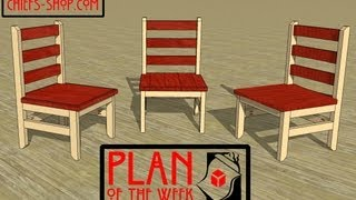 Chief's Shop Plan Of The Week: Beginner Farmhouse Dining Chair