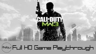 Call of Duty: Modern Warfare 3 Campaign - Full Game Playthrough (No Commentary)