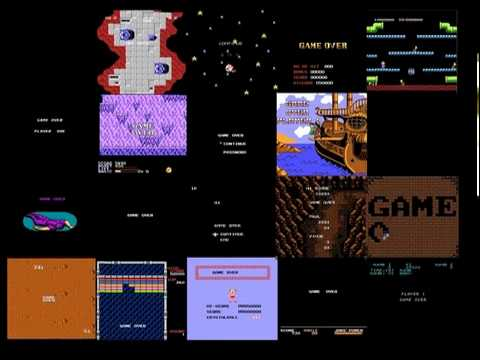 Game Over NES Video Grid