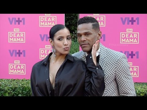 "Maxwell and Julissa Bermudez 2017 VH1's ""Dear Mama"" Purple Carpet"
