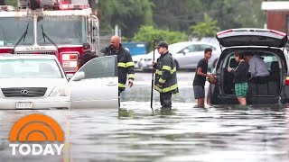 Record Heat Fuels Wildfires Out West As Northeast Suffers Flash Floods