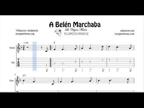 A Belen Marchaba Tab Sheet Music for Guitar Christmas Carol