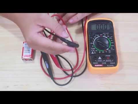 Cách đo điện áp (V) sử dụng đồng hồ đo điện