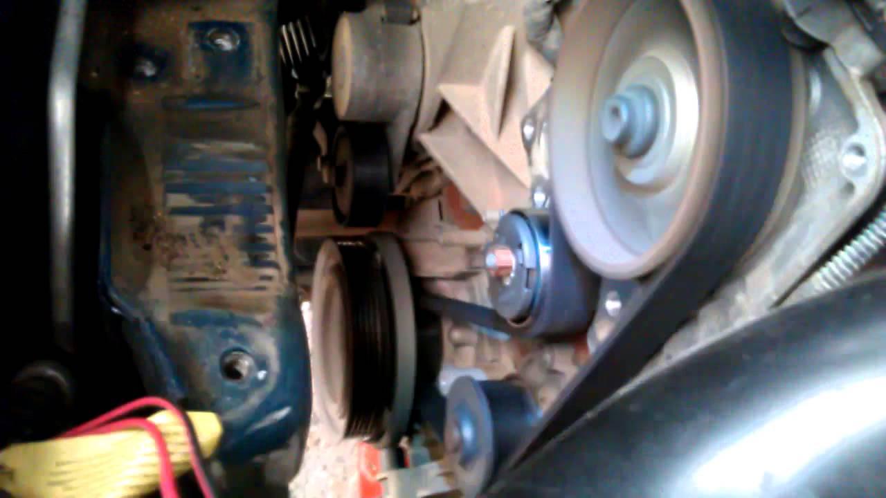 как поменять ремень генератора на фиат альбеа