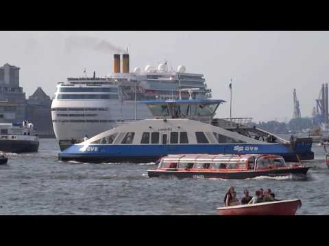 Costa neoRomantica Cruise Ship Departing Amsterdam Holland Cruise Terminal