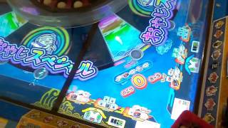 ジャックポットチャレンジした〇ギョー転ガッポリすし〇コインゲーム【ゲーセンでメダルゲーム】