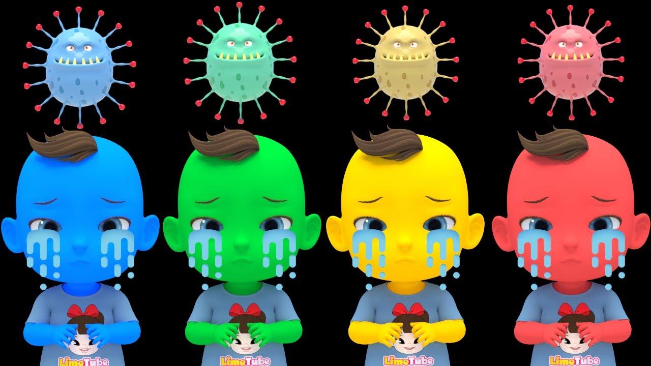 Learn Color with Bath Song  나쁜 바이러스를 무찔러요! 버블버블 목욕송 영어동요 Nursery rhymes 라임이와 영어 공부 해요!