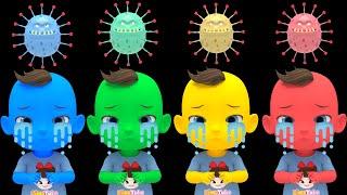 Learn Color with Bath Song  나쁜 바이러스를 무찔러요 버블버블 목욕송 영어동요 Nursery rhymes 라임이와 영어 공부 해요