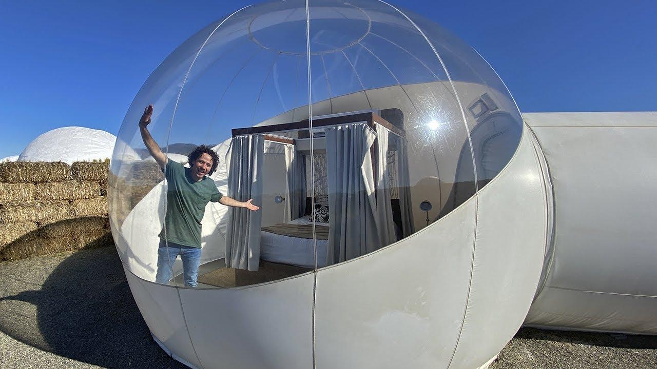 ¿Cómo es dormir en un HOTEL BURBUJA? | Camping Lujoso