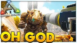 ROCK GOLEM MONSTER - MODDED ARK SURVIVAL EVOLVED SCORCHED EARTH #2