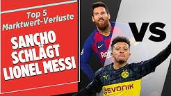 Sancho schlägt Messi & Havertz schlägt Sané! | Sport Bild Update | Top 5 Marktwert-Verluste