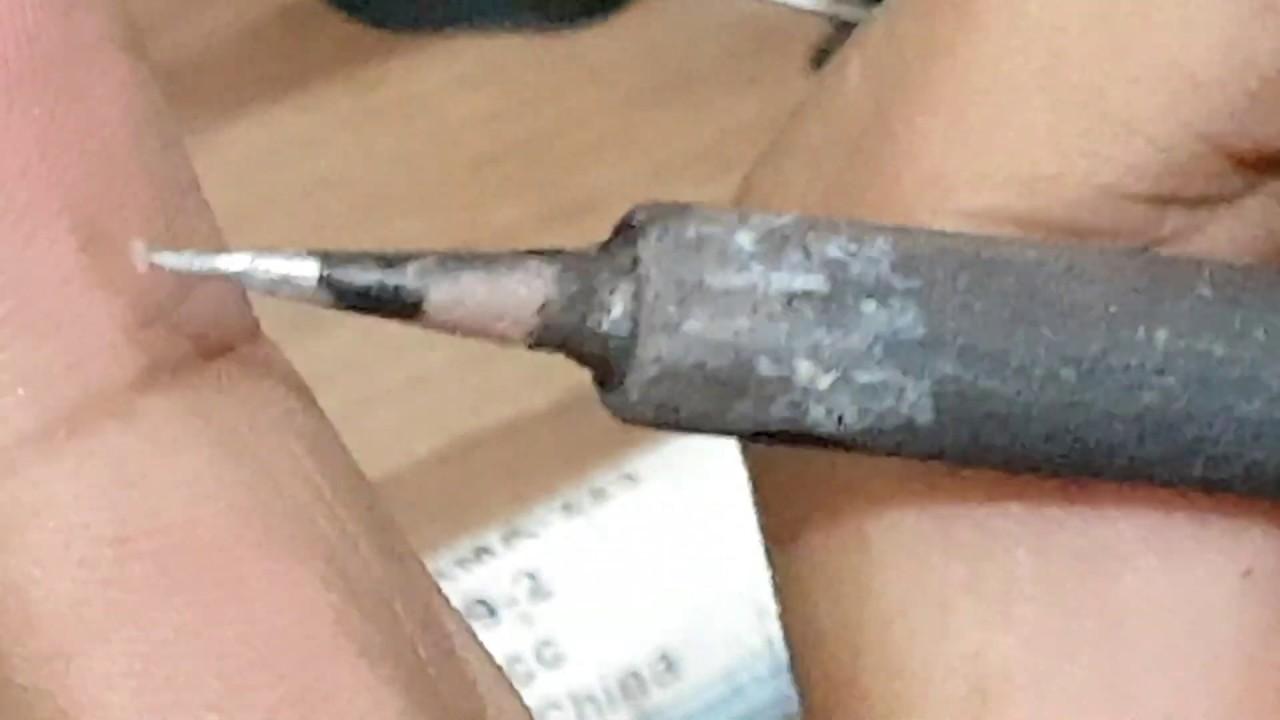 Como deixar a ponta do ferro fina igual a uma agulha