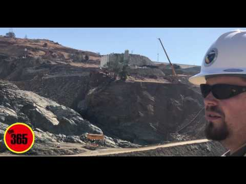 Oroville Dam Spillways Day 147 The 365 Report July 21st, 2017 Oroville Spillways Construction Site T