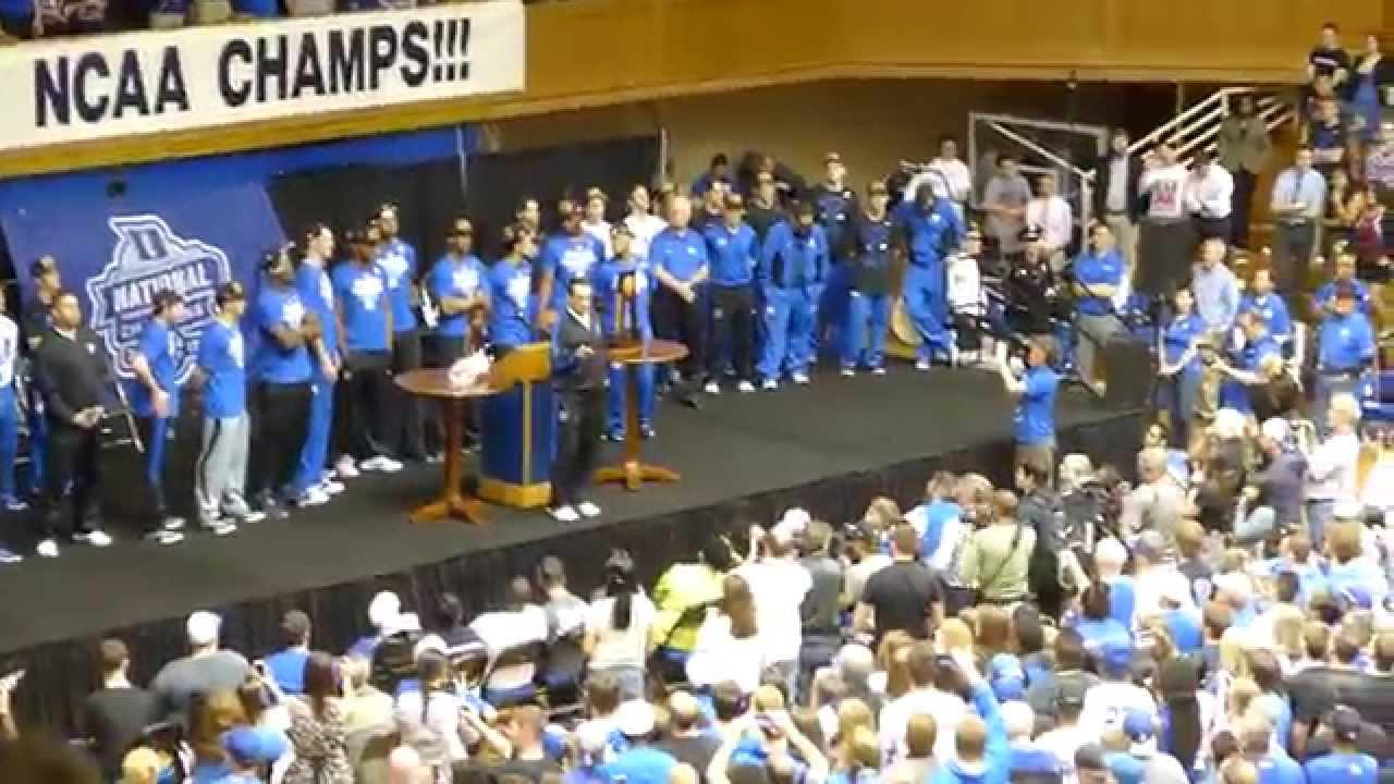 Duke Basketball National Champions 2015 Welcome Home