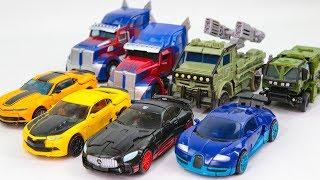 Transformers 5 TLK VS 4 AOE Optimus Prime Bumblebee Hound Drift Vehicles Transform Robots Car Toys