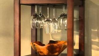 18 Bottle Walnut Wine Tower And Glass Holder - Product Review Video