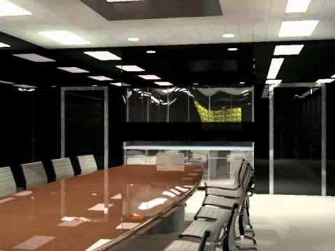 Auto Cad 3d House Conference Room Design Youtube