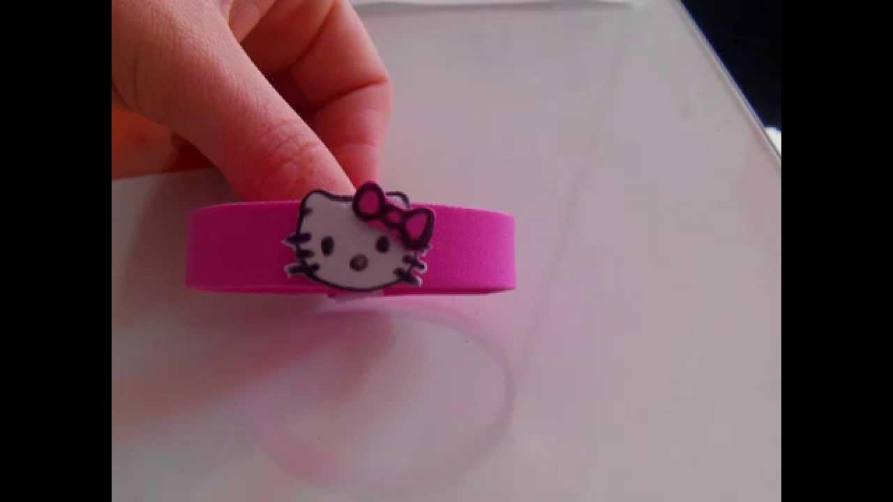 Pulsera hello kitty de goma eva youtube for Como hacer pulseras de goma eva