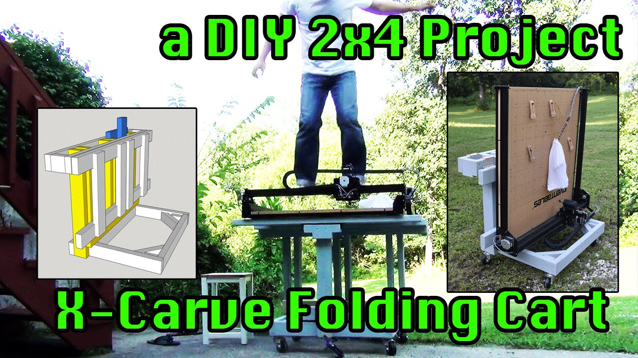 How To Make A Folding Portable X Carve Table From 2x4