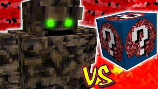 MONSTRO GIGANTE DE PEDRA VS. LUCKY BLOCK NERD (MINECRAFT LUCKY BLOCK CHALLENGE