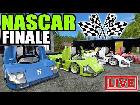 FARMING SIMULATOR 2017 | FINAL YOUTUBE NASCAR RACE | MULTIPLAYER | HAULING & RACING |