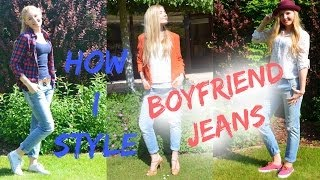 3 SPRING OUTFIT IDEAS - How I style BOYFRIEND JEANS ❤