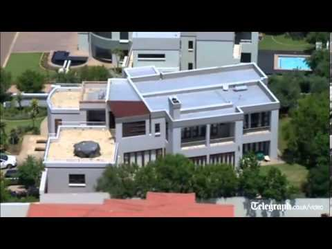 Aerial view of Oscar Pistorius's home
