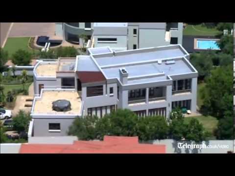 Aerial view of oscar pistorius 39 s home youtube for Oscar home