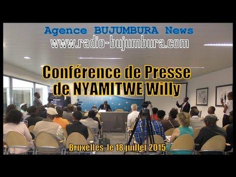 Conference de presse de NYAMITWE Willy à Bruxelles (vidéo: questions-réponses)