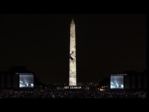 FULL VIDEO: Amazing complete show of Apollo 11 moon landing on the Washington Monument
